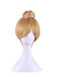 Недорогие -Парики из искусственных волос Естественные волны Блондинка Искусственные волосы Блондинка Парик Без шапочки-основы Блондинка