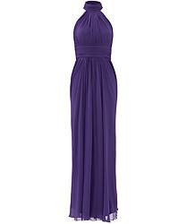 cheap -Mermaid / Trumpet High Neck Floor Length Chiffon Formal Evening Dress with Pleats by Shang Shang Xi