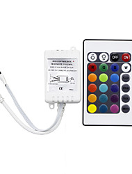 RGB Controller 24 keys IR Remote Control  Controller Applicable to 3528 or 5050 RGB LED Strips