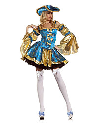 Costumes More Costumes Halloween Sky Blue Patchwork Terylene Dress / More Accessories