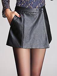 Women's Solid Black Shorts Pants,Sexy  Simple  Cute Plus Size