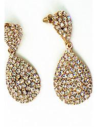 cheap -Earring Rhinestone Bicone Shape Drop Earrings Jewelry Women Fashion Halloween / Wedding / Party / Daily / Casual