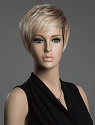 abordables -Peluca superior de peinado corto monofilamento recto 100% pelo remy humano de los hombres bonitos