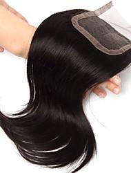 10 polegadas handtied fechamento lace staight os pêlos cabelo humano Remy 4 * 4swiss rendas