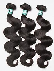 billige -3 Bundler Brasiliansk hår Krop Bølge Jomfruhår Menneskehår, Bølget Menneskehår Vævninger Blød Menneskehår Extensions