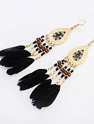 cheap -High Quality Fashion Bohemia Earrings Jewelry 2016 Women's Trendy Long Earrings Boho Feather Earrings