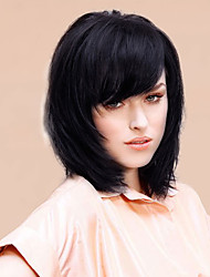 economico -affascinante mediuim capelli umani diritti di alta qualità parrucche 14 pollici