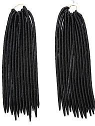 billige -Fletning af hår Klassisk dreadlocks / Dreadlocks / Faux Locs 100% kanekalon hår Hårfletninger Dreadlock Extensions Daglig