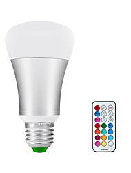 E26/E27 LED Globe Bulbs A60(A19) 1 COB 900lm-1200lm lm Warm White RGB RGB multicolor+warm White 3000K K Infrared Sensor Dimmable AC 85-265