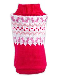 cheap -Cat Dog Sweater Christmas Dog Clothes Color Block Red Acrylic Fibers Costume For Pets Men's Women's Casual / Daily New Year's