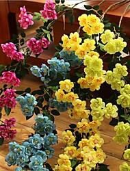 Set of 1 PCS 1 Afdeling Polyester Roser Bordblomst Kunstige blomster Long 35.4(inch)
