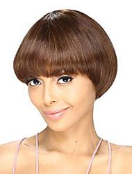 Ženy Medium Auburn Rovné Střih Bob Umělé vlasy Bez krytky Přírodní paruka paruky