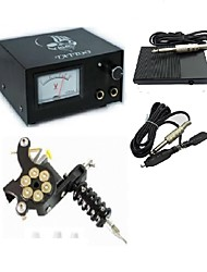 cheap -Analog Tattoo Machine Power Supply Digital professional power Clip Cord Foot Switch Power Plug