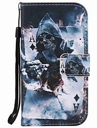 preiswerte -Hülle Für Samsung Galaxy S7 edge S7 Kreditkartenfächer Geldbeutel mit Halterung Ganzkörper-Gehäuse Totenkopf Motiv Hart PU-Leder für S7