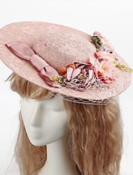 Tulle Fabric Hats Wreaths Headpiece Classical Feminine Style