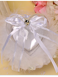 White 1 Ribbons / Bow / Faux Pearl Satin Wedding Ceremony Beautiful