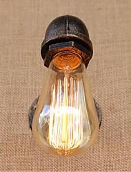 AC 220V-240V 40w e27 bg808 saudade tubulação de água simples luz decorativos de parede lâmpada de parede pequeno