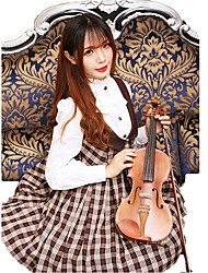 cheap -Sweet Lolita Dress Lolita Women's Skirt Cosplay Coffee / Brown Sleeveless Medium Length Halloween Costumes