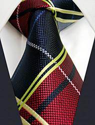 UXL21 Extra Long 63For Men Casual Neckties Handmade Red Blue Checked 100% Silk Handmade Dress Fashion