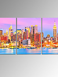 VISUAL STARNew York City Wall Art for Home Decoration Cityscape Canvas Prints with Frame