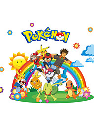 Pokemn Stickers 3D Cartoon Stickers Film Animals BIka Qiu Wall Decals for Kids