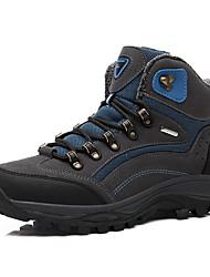 Недорогие -Муж. Кеды Кроссовки для ходьбы Альпинистские ботинки Резина Пешеходный туризм Восхождение Дышащий Противозаносный Anti-Shake Нубук Желтый Зеленый Синий