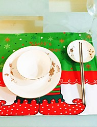 Hot Househould Christmas New Elves Printing Table Mat Table Mat Christmas Table Mat Dinning Room Placemats