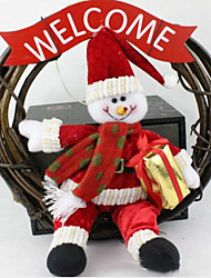 Christmas Wreath 25 Cm Santa Snowman  Christmas Decorations