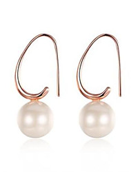 Rose Pearl Earrings 2 Wedding Party Elegant Classical Feminine Style