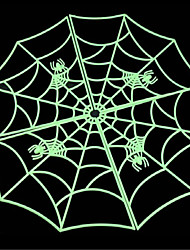 Halloween Costumes Bar KTV Building Decorative Props 60 Cm Luminous Spider Web Moving Props Scary Prop