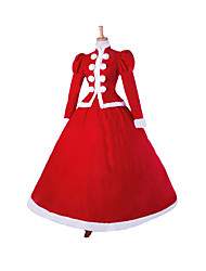 cheap -Steampunk@Top Sale Christmas Party Red Prom Dresses