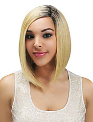 Super Smoothly Long Straight Bob Hairstyle Human Hair Mixed Color