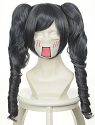 abordables -Pelucas sintéticas / Pelucas de Broma Rizado Con coleta Pelo sintético Peluca Mujer Sin Tapa