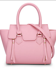 Women Bags All Seasons Pigskin Tote with for Formal Office & Career Yellow Fuchsia Red Blue Blushing Pink