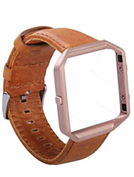 Недорогие -Кофе / Оранжевый Кожа Спортивный ремешок Для Fitbit Смотреть 23мм