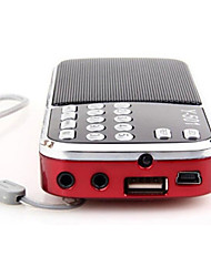 cheap -Y-501 AM/FM Bass Cannon Stereo Radio Red Portable Radio