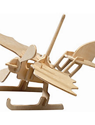 Недорогие -Деревянные пазлы Вертолет профессиональный уровень Дерево 1 pcs Мальчики Девочки Игрушки Подарок