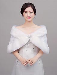 Umjetno krzno Vjenčanje Party/večernja odjeća Ženski ogrtač With Perje / krzno Kratka pelerina
