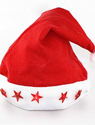 12pcs / lot felice anno nuovo / forniture di Natale cappello di luce elettronica fino tappo a cinque stelle della lampada luminosa