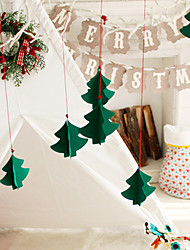 cheap -7pcs Christmas Tree Decorated Three-dimensional Ornaments New Window Hotel Mall Non-woven Fabric