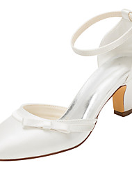 cheap -Women's Heels Spring / Fall Others Stretch Satin Wedding / Dress Chunky Heel Bowknot / Buckle Ivory Others