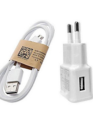 Fast Charge Hjem oplader / Bærbar oplader EU  Stik 1 USB-port med kabel For Cellphone(5V , 1A)