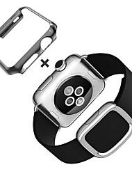 preiswerte -Uhrenarmband für apple watch moderne schnalle aus echtem leder ersatzband mit fall