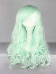 New Halloween Top Grade 70cm Long Curly Synthetic Light Green Lolita Wig