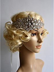 cheap -Rhinestone Flowers Headwear with Floral 1pc Wedding Special Occasion Headpiece