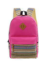 cheap -Women Bags Canvas School Bag for Casual All Seasons Black Purple Fuchsia Blue Khaki