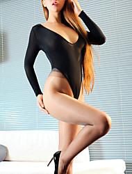 Women Ultra Sexy Nightwear,Sexy Solid-Thin Polyester White Black