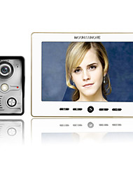 cheap -MOUNTAINONE 10 Inch Video Door Phone Doorbell Intercom Kit 1-camera 1-monitor Night Vision