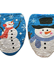 cheap -1PC Snowman Toilet Lid Stamp Toilet Cover Christmas Ornament(Style random)