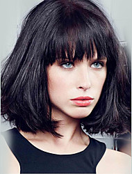 cheap -Beautiful Short Bob Straight Capless Wigs Human Hair